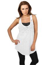 Urban Classics Damen Ladies Long Leo Print Loose Tank Top Shirt Sport Dance 717