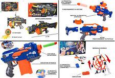 Pistola Mitra Giocattolo Spara Proiettili Dardi Soft Morbidi Compatibili