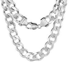 Sterling Silver 13 mm Italian Heavy Cuban Curb Link Chain Bracelet