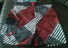 boys lined swim swimming shorts, ADAMS red black white NEW
