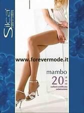 6 Collant donna Silca Mambo opaco in lycra con corpino contenitivo art Mambo 20