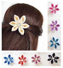 Haarspange Haarclip Blumenmädchen Klammer Mädchen Haarschmuck Satin Kinder Fest