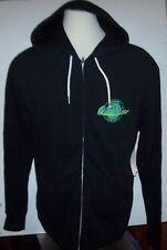 New QUIKSILVER black green logo hoodie full zipper jacket Medium or Large or XL