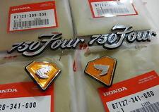 Honda CB 750 Four K2 Emblem set Batterie und Öltank Seiten Deckel Abdeckung