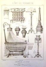 "Diderot's ""L'Art du Tourneur"" -1869-MEUBLES - BABY CRIB"