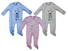 Baby Boys & Girls Fleece Sleepsuit / All in One - Blue / Pink /Cream