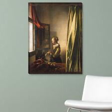 "WANDKINGS Leinwandbild Jan Vermeer - ""Die Briefleserin am offenen Fenster"""