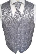PANCIOTTO nozze con plastron,fazzoletto da taschino e cravatta grigio,nr.13.5