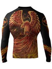 Raven Fightwear Men's The Phoenix Rash Guard MMA BJJ Black