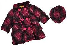 PENELOPE MACK ENFANT FILLE NOIR & rose velours côtelé veste * / CHAPEAU taille