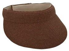 Tropical Trends Women's Iridescent Paper Straw Braid Visor