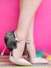 NEW Manolo Blahnik FRANCAMARIA Nude Satin Champagne Shoes 36 37 38 39 41