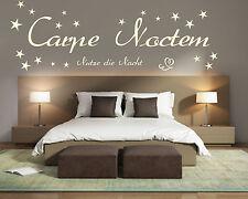 Wandtattoo Schlafzimmer Carpe Noctem Nutze die Nacht Spruch Wandaufkleber 432016