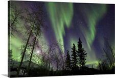 Aurora Borealis X Canvas Art Print