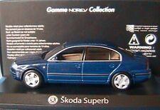 SKODA SUPERB 2004 TDI BLEU FONCE NOREV 840612 1/43 1:43