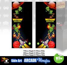 Multijuegos Arcade Laterales Arte Panel v1 Adhesivos Gráficos/Laminado Todos Los Tamaños
