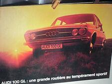 DEPLIANT AUDI 100 GL OCT 1972
