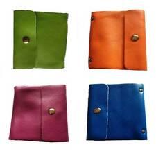 Cowhide Leather Business Credit Card Holder Handbag Purse Case Pocket New