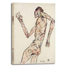Schiele il danzatore design quadro stampa tela dipinto telaio arredo casa