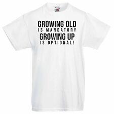 Para Hombre Graphic T-shirt - la vejez es obligatorio creciendo es opcional