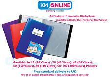 A4 Flexicover Display Book 10/20/40/100 Pockets Presentation Folder Portfolio