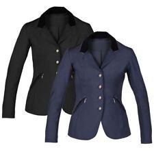 Horka femmes piaffer strass velours col confort équitation compétition veste