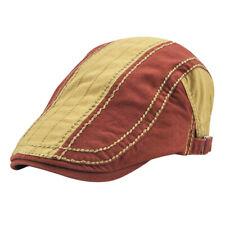 Bérets Homme Chapeau en Tissu de Coton Chaud Automne Hiver Réglable