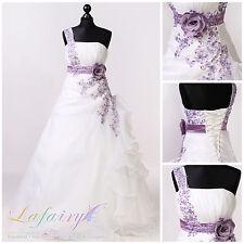 Brautkleid H221 Hochzeitskleid weiß ivory mit Blumen elegant von lafairy