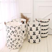 Large Capacity Kids Baby Room Toys Storage Canvas Laundry Basket Drawstring Bag