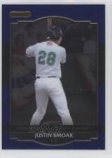 2008 Razor Signature Series Metal Blue #BA-JS Justin Smoak Texas Rangers Card