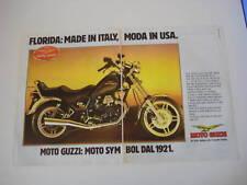 advertising Pubblicità 1986 MOTO GUZZI V35 V 35 FLORIDA