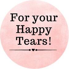 Brillo Personalizado Boda Feliz lágrimas Tejido celebración Adhesivos 100 Tonos