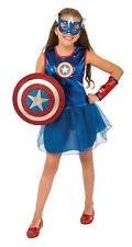 OFFICIALLY LICENSED MARVEL CAPTAIN AMERICA AMERICAN DREAM CHILD GIRLS COSTUME