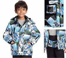 M&S Boys Coat - Thinsulate™ Ski Mountain Print Hooded Boys Winter Coat