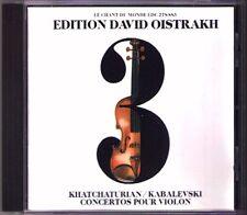 David OISTRAKH Edition 3 KHACHATURIAN KABALEVSKY Violin Concerto CD USSR AAD