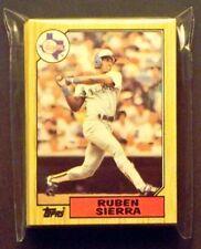 Texas Rangers 1987 Topps Team Set 29 Cards