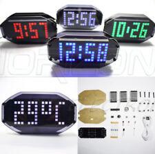Mult-function DIY Digital LED Mirror Matrix Desktop Alarm Decoration Clock