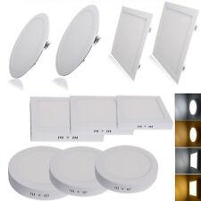 3W-24W Surface Mounted LED Ceiling Flat Panel Light Lamp Downlight Kit C/W White