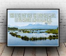 Christian Inspirational Poster - Psalms 118:24 - Rejoice Joy Righteous ALL SIZES