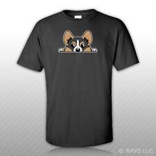 Tricolor Pembroke Welsh Corgi T-Shirt Tee Shirt Free Sticker Cardigan