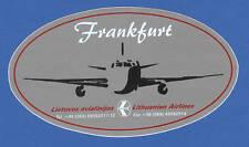 Lithuanian Airlines LOGO Label Sticker to Frankfurt