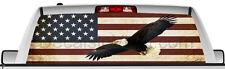 Rear window graphic view thru decal sticker, Flag eagle, pickup truck SUV Vans