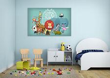 3D Forest Animal 772 Wall Stickers Vinyl Wall Murals Print Decal Art AJ STORE CA