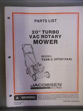 """Homelite Parts List Manual 20"""" Turbo Rotary Mower T20B-2"""