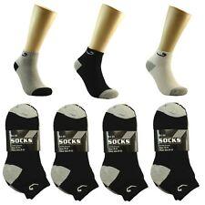 12 Pair Ankle Quarter Crew Socks Unixex Men Low Cut 10-13 Sport Black Grey Tones