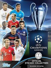 UEFA CHAMPIONS LIGA 2015//16 Pegatinas-elige de la lista en la descripción-TOPPS