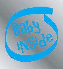 Sticker vinyle adhésif Baby inside autocollant Bébé a bord moto auto maison