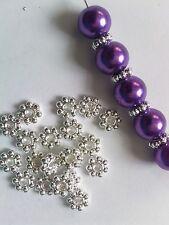 100x 4mm -2mm thick Antiq /Bright SIlver Gold Bronze Tibetan Daisy spacer beads
