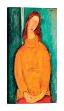 AMEDEO MODIGLIANI Jeanne Hébuterne Stampa su tela Canvas effetto dipinto