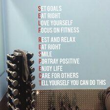 Gym Fitness Wall Decal Set Goals Inapirational Gymnastics Quote Vinyl Art Decor